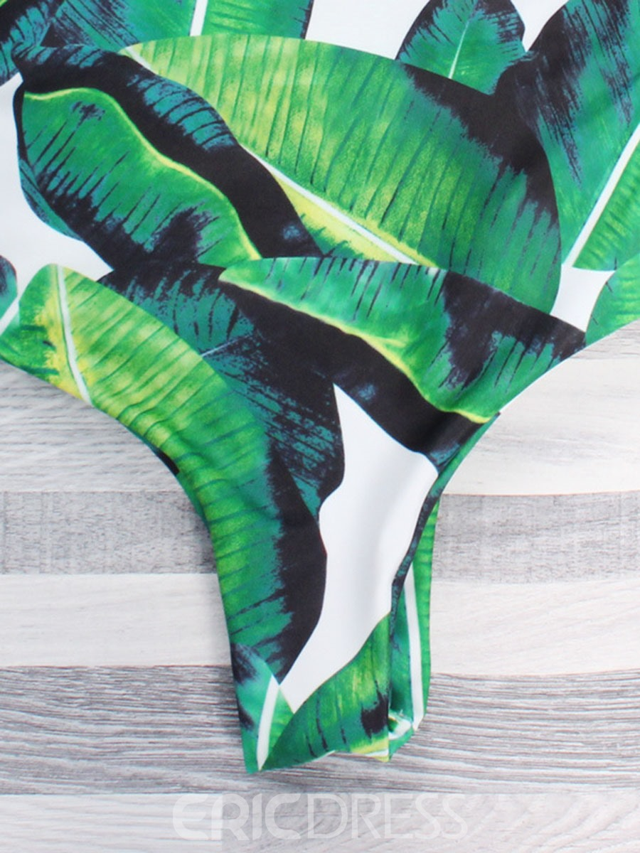 Ericdress Plant Floral One Piece Swimsuits