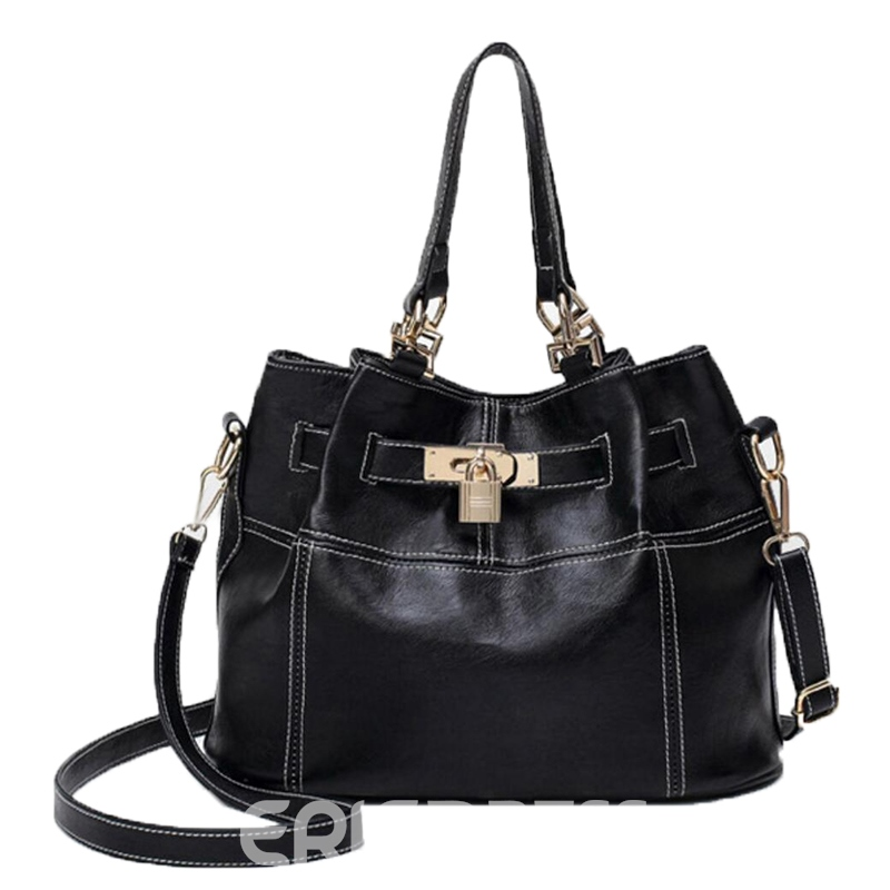 Ericdress Casual Lock Decoration Women Shoulder Bag