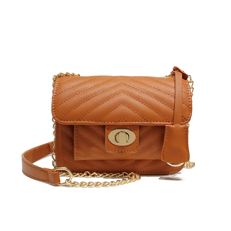 Ericdress Latch Decoration Mini PU Crossbody Bag