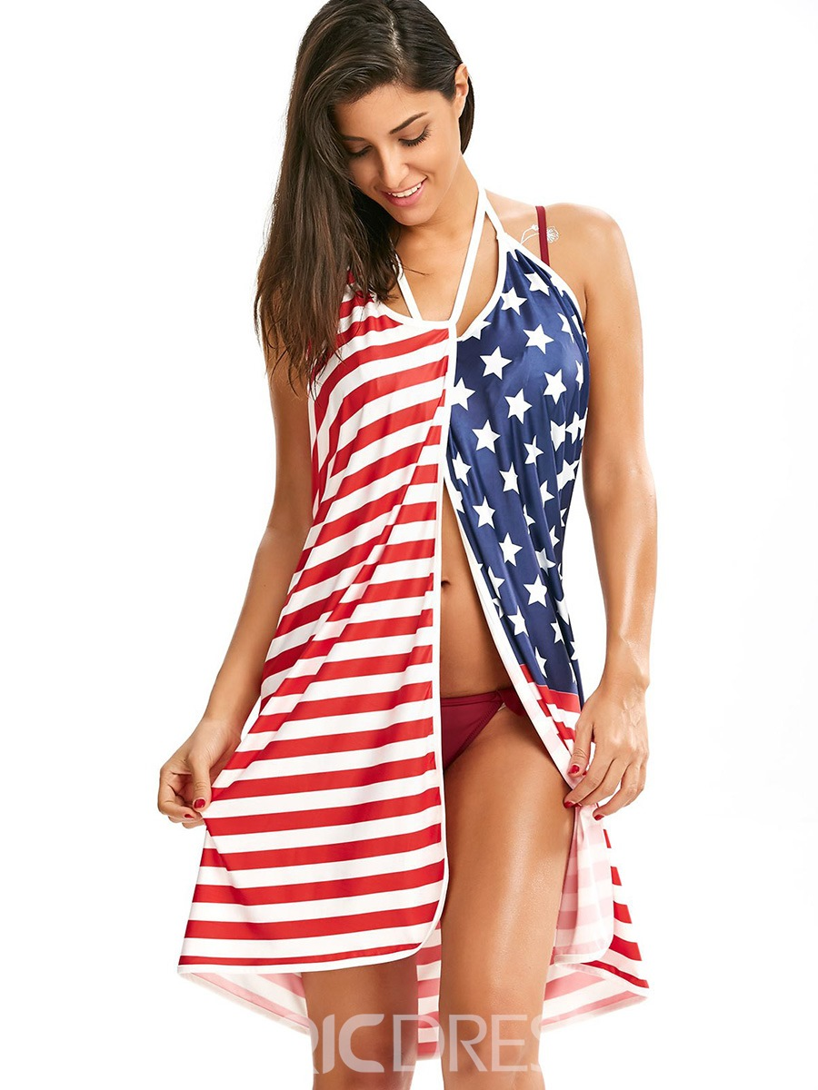 Ericdress American Flag Stripe Star Beach Dress(Plus Size Aviable ...