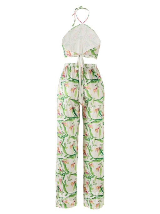 Ericdress Print Vest and Pants Women's Two Piece Set