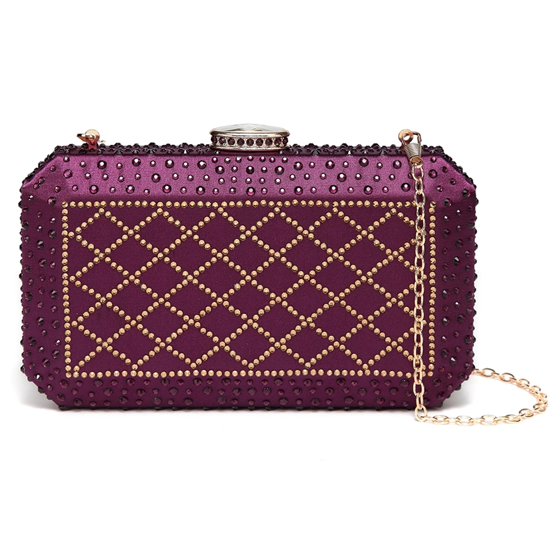 Ericdress Concise Rhinestone Decoration Women Clutch