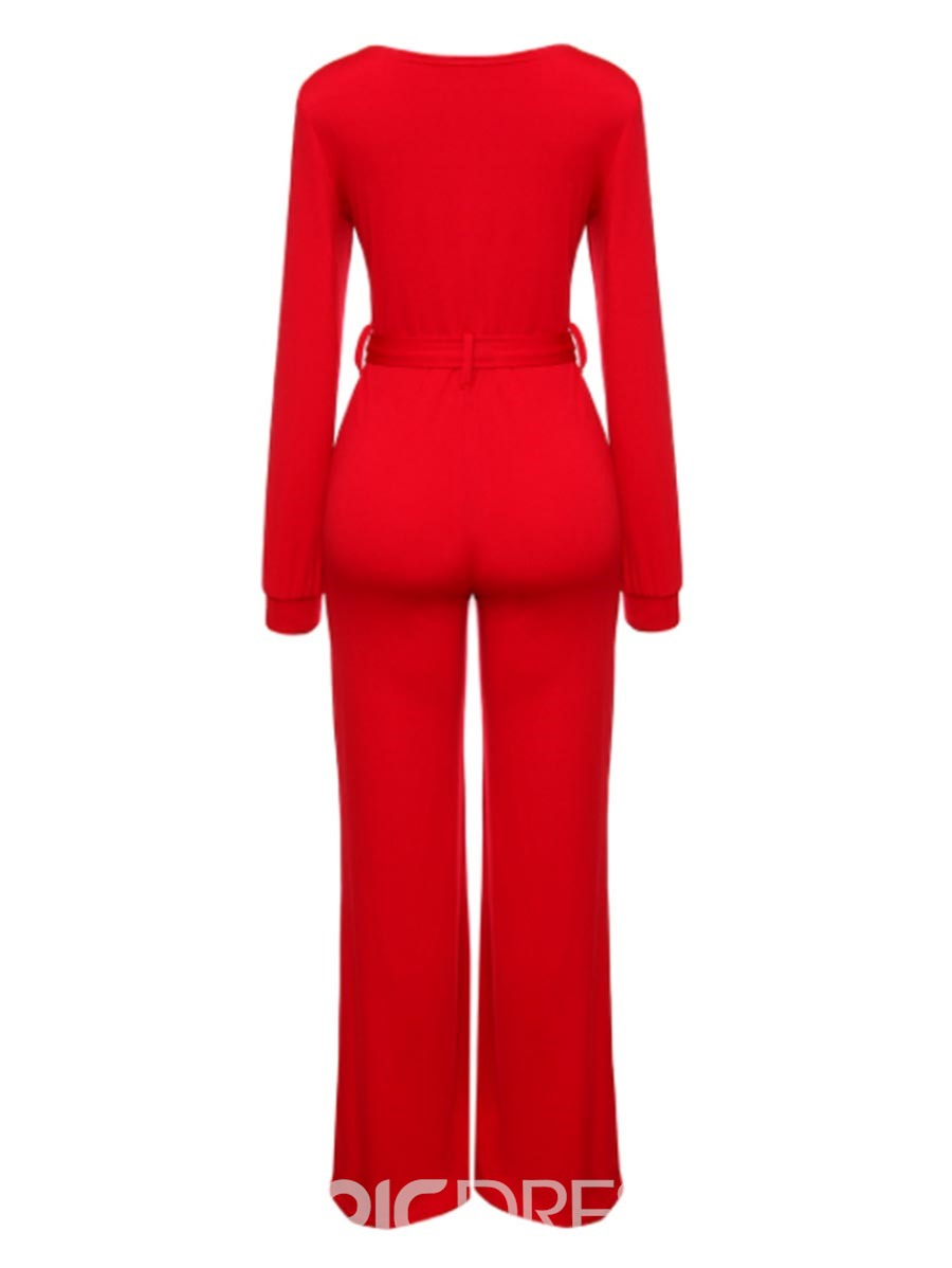 Ericdress Wide Leg Plain Women's Jumpsuit