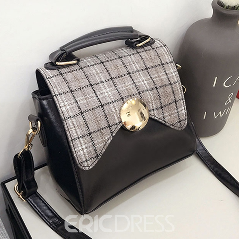 Ericdress Casual Plaid Mini Women Crossbody Bag