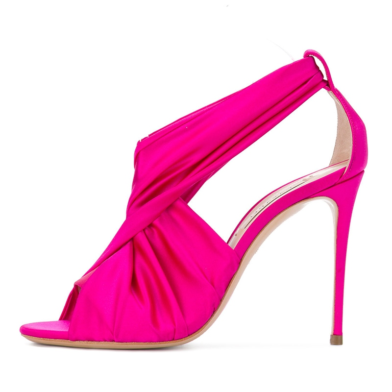 Ericdress Open Toe Plain Slip-On Stiletto Sandals