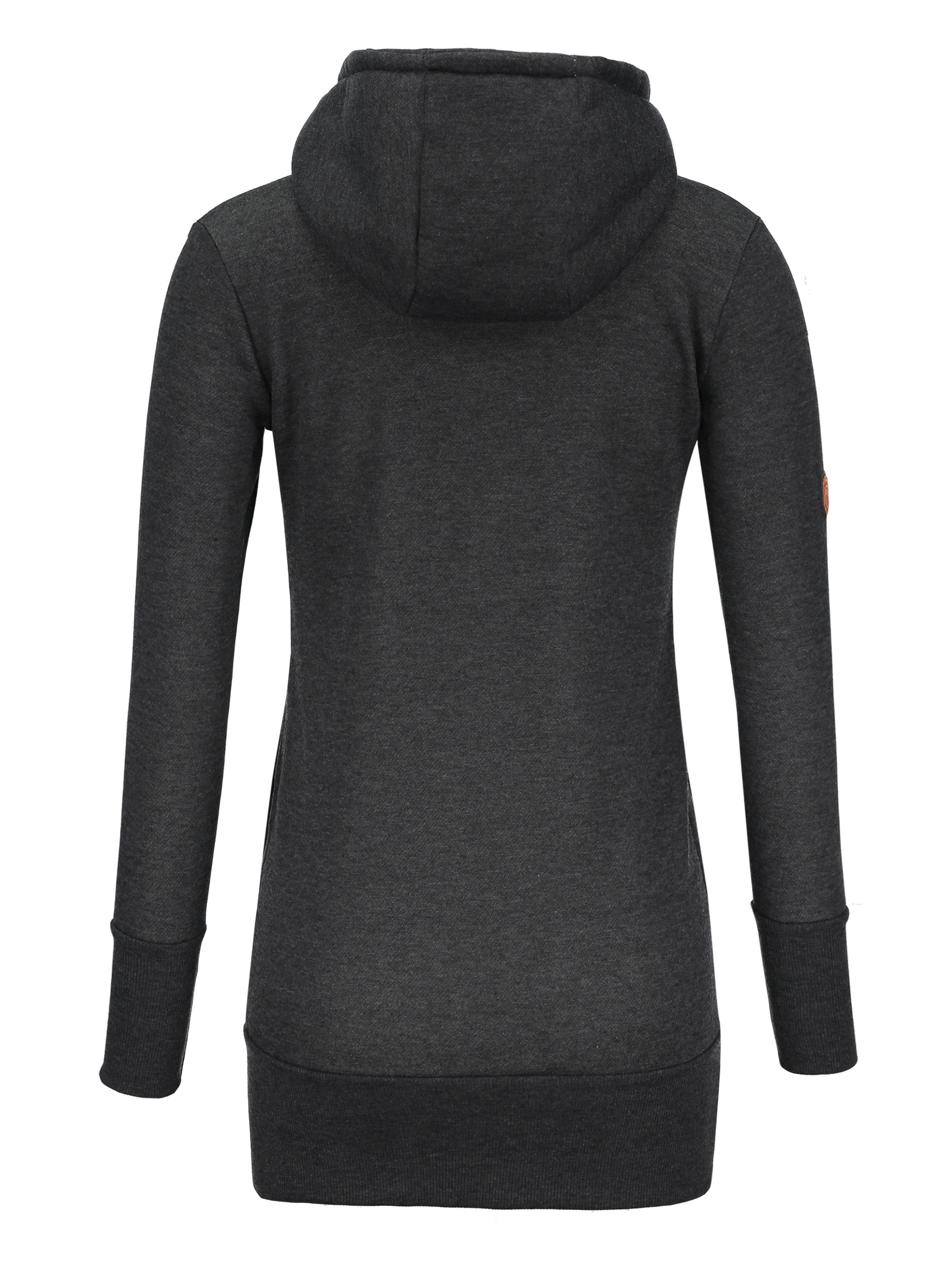 Ericdress Slim Mid-Length Plain Turtleneck Cool Hoodie
