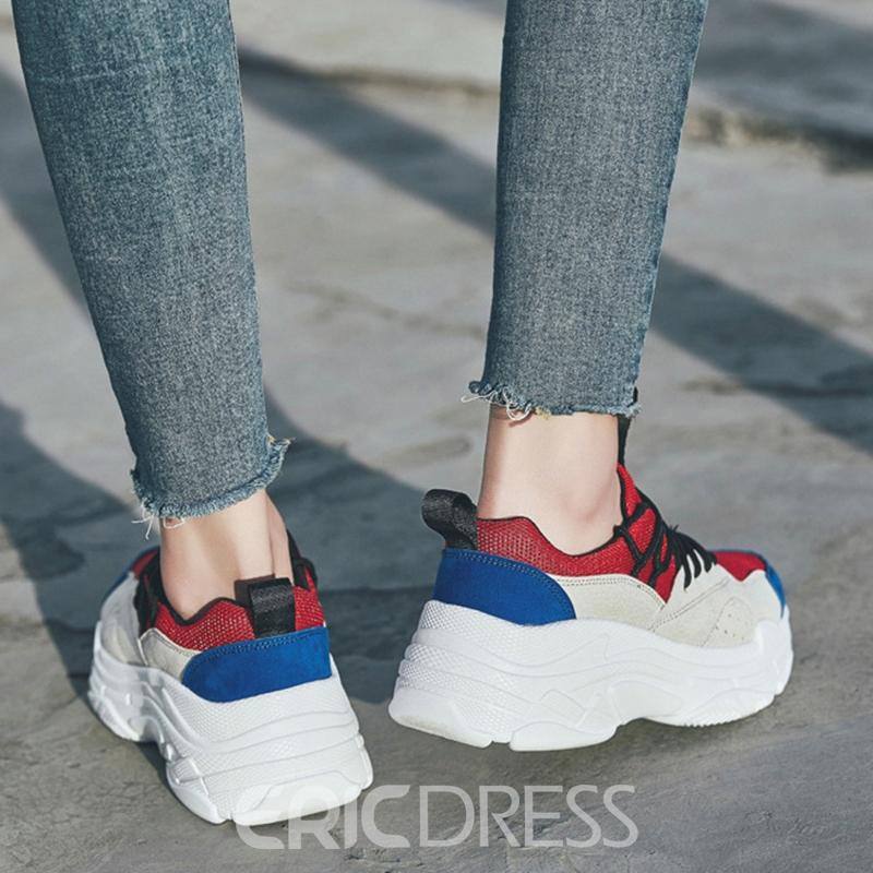 Ericdress Popular Color Block Round Toe Men's Athletic Shoes