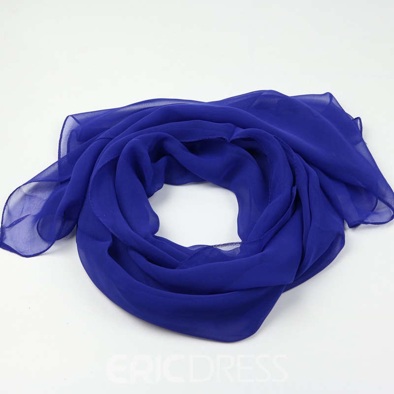 Ericdress Cozy Georgette Pure Color All Match Scarf