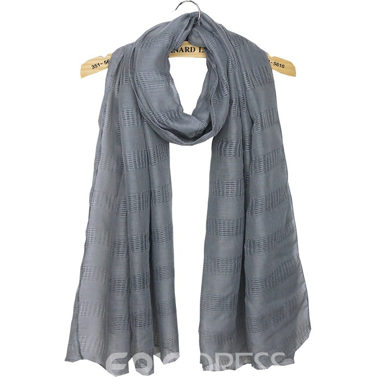 Ericdress Solid Color Cotton and Linen All Match Scarf for Women