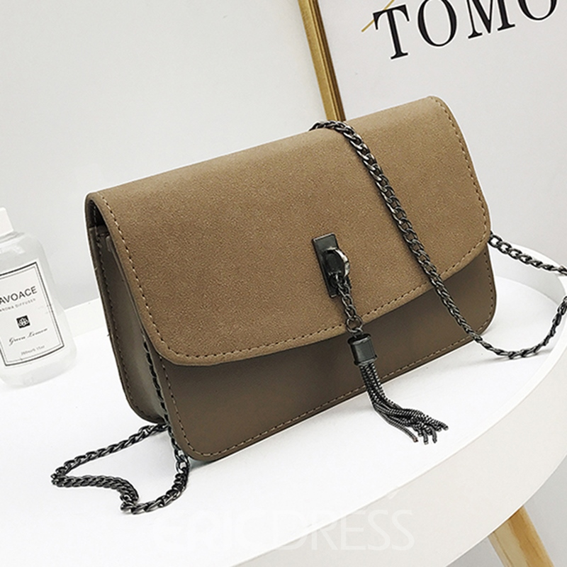 Ericdress Concise Tassel Decoration Crossbody Bag