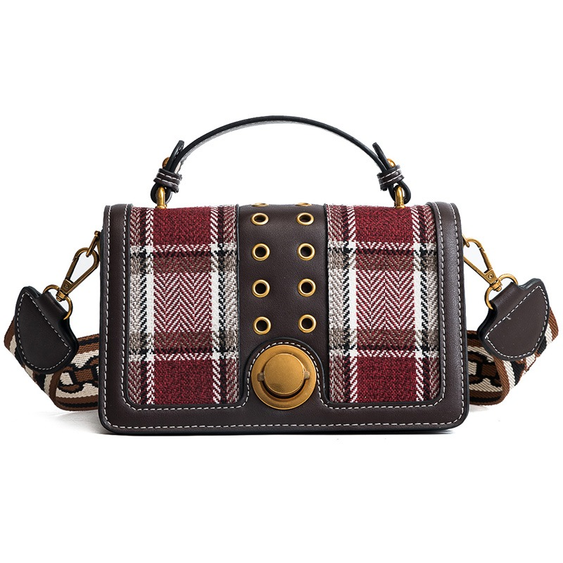 Ericdress Casual Plaid PU Women Crossbody Bag