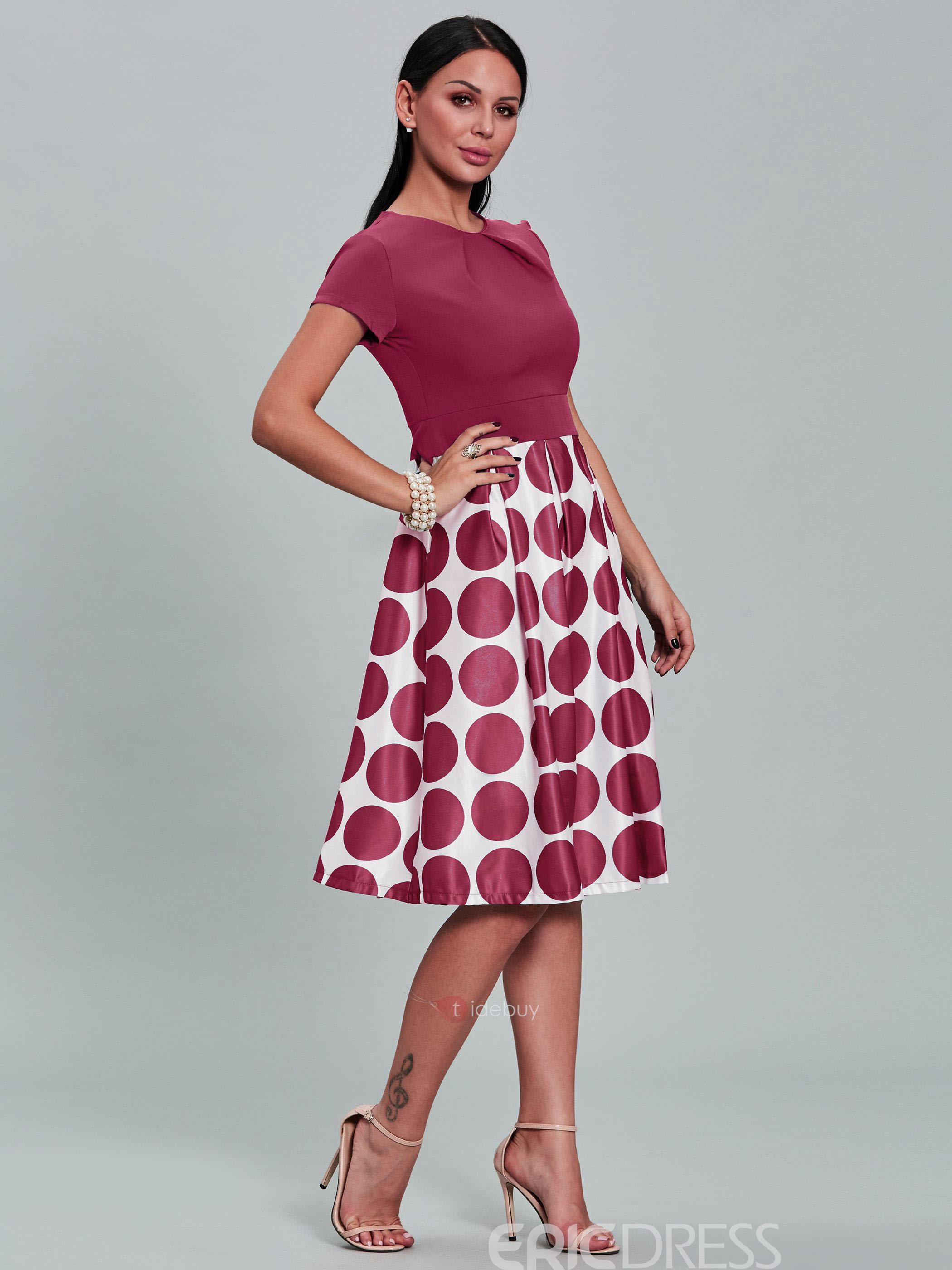 Ericdress Ball Gown Polka Dots A Line Dress