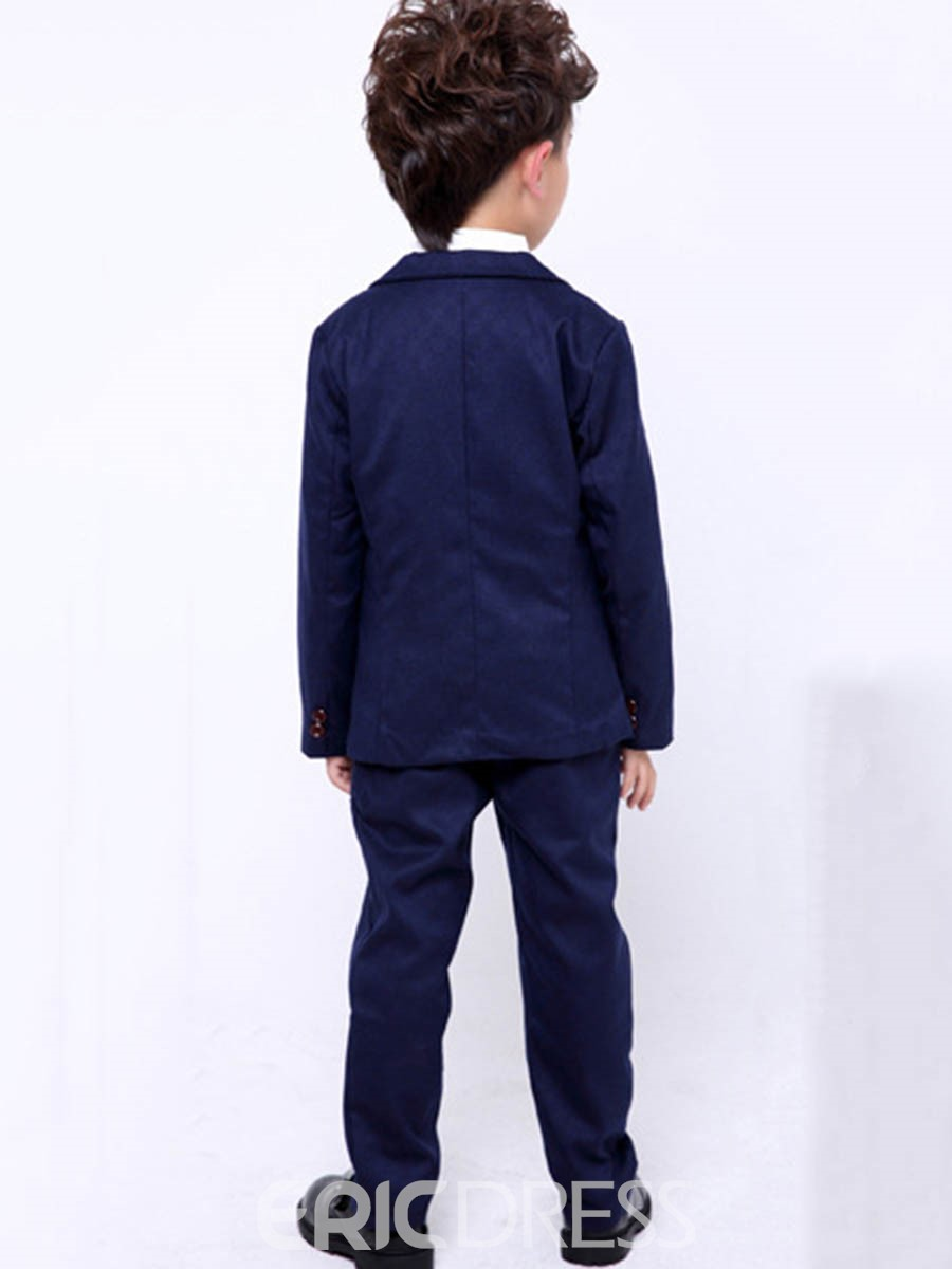 Ericdress Plain One Button Blazer Vest Pants Boy's 3 Pieces Suit