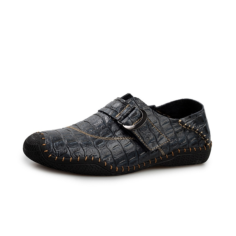 Ericdress Fashion Buckle Plain Slip-On Men's Shoes