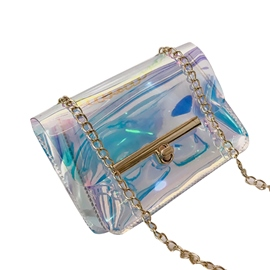 bolso crossbody brillante de la PU del color de ericdress