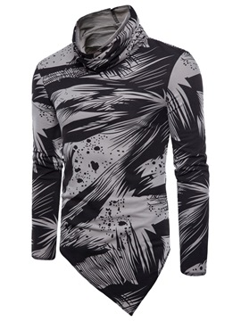 Ericdress Print Heap Collar Mens Loose Shirt