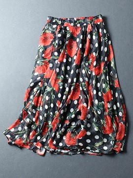 Ericdress Chiffon Print Women's Skirt