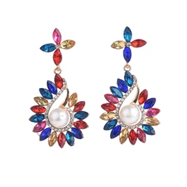 Ericdress Pearl Colour Gems Earrings For Women