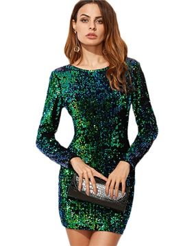 Ericdress Spring Sequins Scoop Pullover Women's Bodycon Dress
