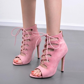 Ericdress Cross Strap Plain Open Toe Stiletto Sandals