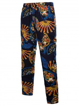 Ericdress Print Color Block Mens Casual Pants