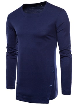 Ericdress Plain Mens Long Sleeve Casual Shirt