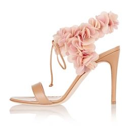 Ericdress Floral Lace-Up Open Toe Plain Stiletto Sandals