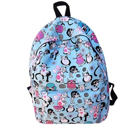 Ericdress Cartoon Prints Canvas Backpack