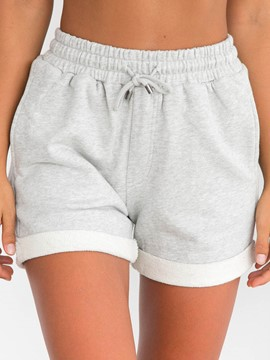 Ericdress Plain Lace-Up Women's Sport Shorts