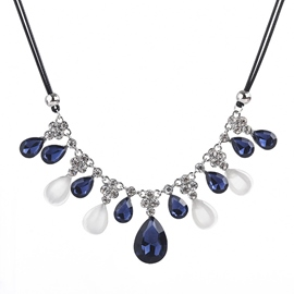 Ericdress Ocean Blue Luxury Ladies Necklace