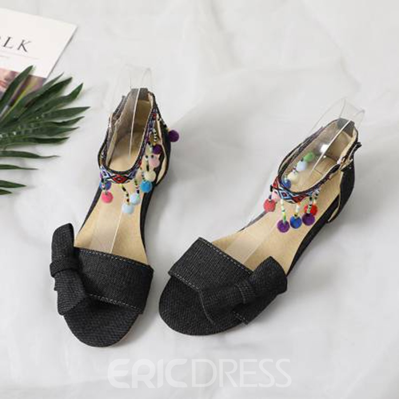 Ericdress Fringe Open Toe Flat Sandals