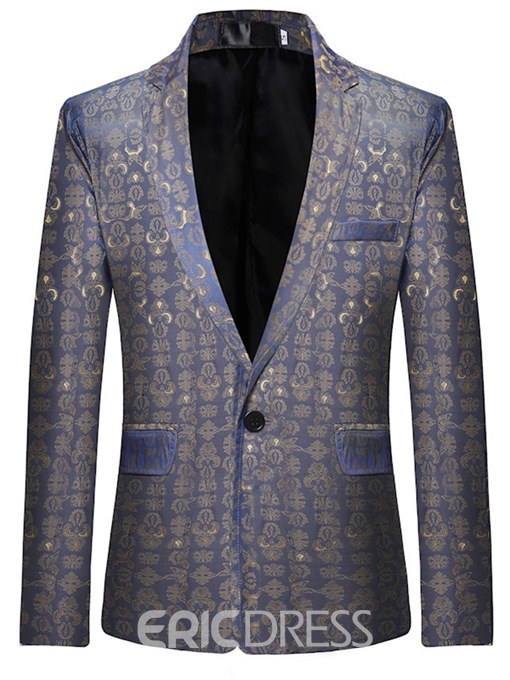 Ericdress Print Plain Slim Fit Mens Casual Jacket Blazer