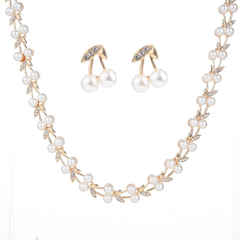 Ericdress Fruits Pearl Jewelry Set