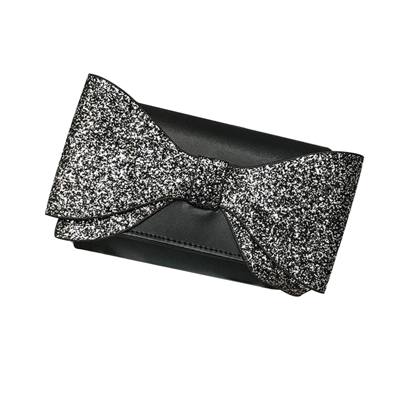 Ericdress Bowknot Decoration Color Block Clutch