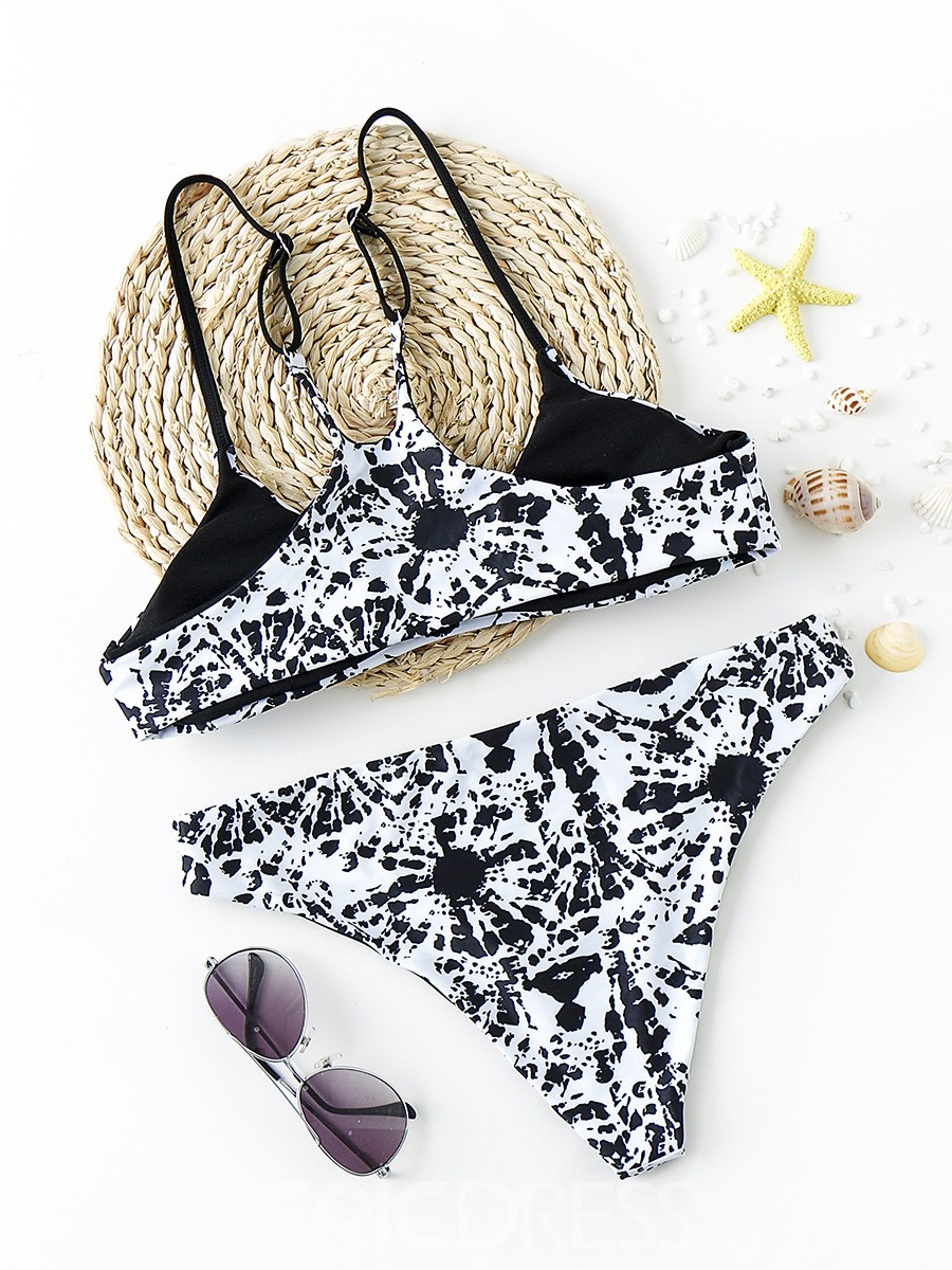 Ericdress Print Sexy Bikini Suits