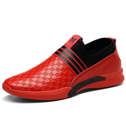 Ericdress All Match Comfy Round Toe Plaid Mens Athletic Shoes ericdress