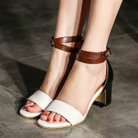 Ericdress Open Toe Low-Cut Chunky Sandals