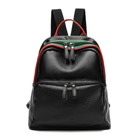 Ericdress Preppy Chic Color Block Zipper Backpack