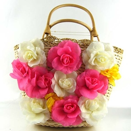 Ericdress Floral Decoration Knitted Women Handbag