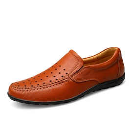Ericdress Hollow Slip-On Plain Men's Loafers
