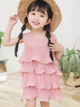 Ericdress Ruffles Baby Girl's Layered Summer Dress