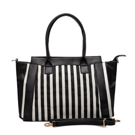 Ericdress Stripe Pattern Zipper Handbag