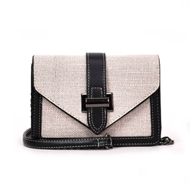 Ericdress Belt Decorated Synthetic Leather Crossbody Bag