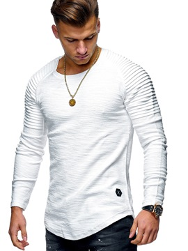 Ericdress Plain Slim Mens T-shirt