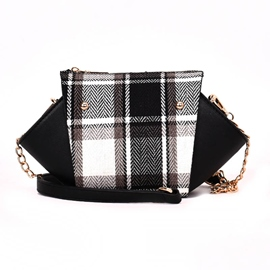 EricdressSynthetic Leather Plaid Crossbody Bag