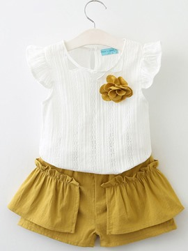 Ericdress Appliques Stringy Selvedge Girl's Summer Outfits