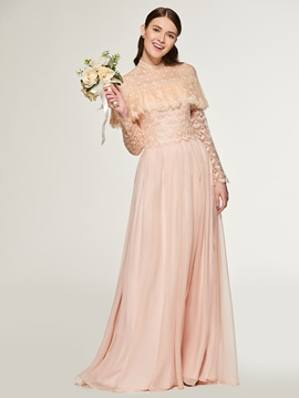Ericdress A Line Long Sleeves Lace Bridesmaid Dress