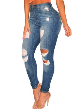 Ericdress Washable Women's Ripped Jeans
