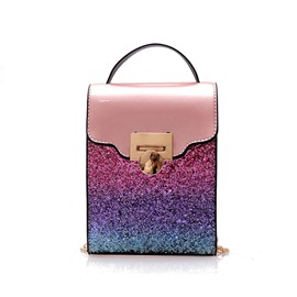 Ericdress Sequins PU Crossbody Bag