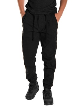 Ericdress Plain Pocket Zip Designed Mens Loose Casual Pants